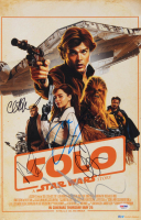 """Solo: A Star Wars Story"" 11x17 Movie Poster Cast-Signed by (5) with Emilia Clarke, Alden Ehreneich, Clint Howard, Paul Bettany (PSA LOA) at PristineAuction.com"