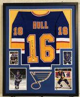 """Brett Hull Signed 34x42 Custom Framed Jersey Inscribed """"HOF 2009"""" (JSA COA) at PristineAuction.com"""