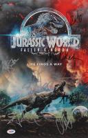 """Jurassic World: Fallen Kingdom"" 11x17 Photo Cast-Signed by (8) with Chris Pratt, Bryce Dallas Howard, Jeff Goldblum, Justice Smith (PSA LOA)"