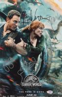 """Jurassic World: Fallen Kingdom"" 11x17 Photo Cast-Signed by (7) with Chris Pratt, Bryce Dallas Howard, Jeff Goldblum, Justice Smith (PSA LOA)"