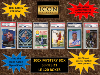 ICON AUTHENTIC  100X MYSTERY BOX SERIES 21 100+ Cards per Box