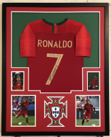Cristiano Ronaldo Signed Team Portugal 34x42 Custom Framed Jersey (Beckett COA)