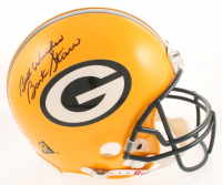 "Brett Favre & Bart Starr Signed Green Bay Packers Full-Size Authentic Helmet Inscribed ""Best Wishes""  (JSA LOA) at PristineAuction.com"