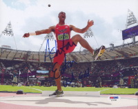 "Ashton Eaton Signed 8x10 Photo Inscribed ""USA Gold"" (PSA COA) at PristineAuction.com"