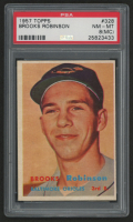 1957 Topps #328 Brooks Robinson RC (PSA 8)(MC) at PristineAuction.com