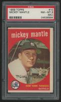 1959 Topps #10 Mickey Mantle (PSA 8)(MC)