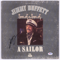 "Jimmy Buffett Signed ""Son of a Son of a Sailor"" Vinyl Record Album (PSA COA)"