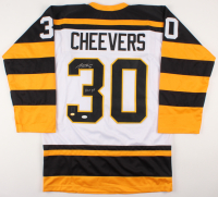 """Gerry Cheevers Signed Boston Bruins Jersey Inscribed """"HOF 85"""" (JSA COA & Cheevers Hologram)"""