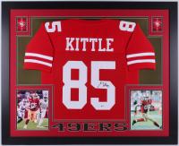 George Kittle Signed San Francisco 49ers 35x43 Custom Framed Jersey (Beckett COA)