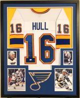 Brett Hull Signed 34x42 Custom Framed Jersey (JSA COA) at PristineAuction.com