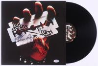 "Rob Halford, Ian Hill & Glenn Tipton Signed Judas Priest ""British Steel"" Vinyl Record Album (PSA LOA) at PristineAuction.com"