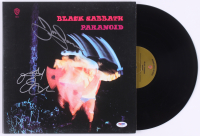 "Ozzy Osbourne & Tony Iommi Signed Black Sabbath ""Paranoid"" Vinyl Record Album (PSA COA)"