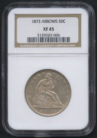 1873 50¢ Seated Liberty Half Dollar - Arrows (NGC XF 45)