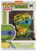 "Kevin Eastman Signed Teenage Mutant Ninja Turtles ""Leonardo"" #04 8-Bit Funko POP! Vinyl Figure with Hand-Drawn Turtles Sketch (PA COA)"