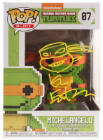 "Kevin Eastman Signed Teenage Mutant Ninja Turtles ""Michelangelo"" #07 8-Bit Funko POP! Vinyl Figure with Hand-Drawn Turtles Sketch (PA COA) at PristineAuction.com"