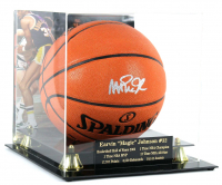 Magic Johnson Signed NBA Game Ball Series Basketball With High Quality Display Case (Beckett COA) at PristineAuction.com