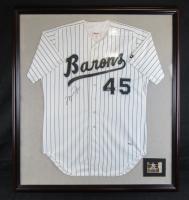 Michael Jordan Signed Birmingham Barons 39x43 Custom Framed Jersey (UDA COA)