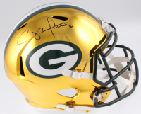 Clay Matthews Signed Green Bay Packers Full-Size Chrome Speed Helmet (Fanatics Hologram)