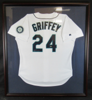 Ken Griffey Jr. Signed Seattle Mariners 39x43 Custom Framed Jersey (UDA COA) at PristineAuction.com