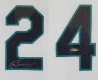 Ken Griffey Jr. Signed Seattle Mariners 39x43 Custom Framed Jersey (UDA COA) at PristineAuction.com
