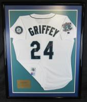 Ken Griffey Jr. Signed Seattle Mariners 34x43 Custom Framed Jersey (UDA Hologram)
