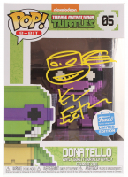 "Kevin Eastman Signed Teenage Mutant Ninja Turtles ""Donatello"" Limited Edition #05 8-Bit Funko POP! Vinyl Figure with Hand-Drawn Turtles Sketch (PA COA) at PristineAuction.com"