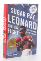 """Sugar Ray Leonard Signed """"The Big Fight: My Life In and Out of the Ring"""" Hard Cover Book (PSA COA)"""