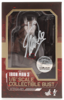 "Stan Lee Signed Marvel ""Iron Man 3"" War Machine Hot Toys 1:6 Scale Collectible Bust (Radtke COA & Lee Hologram) at PristineAuction.com"
