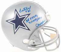 "Nate Newton Signed Dallas Cowboys Full-Size Helmet Inscribed ""SB XXVII, XXVIII, XXX Champs"" (JSA COA & Radtke COA)"