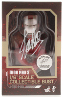 """Stan Lee Signed Marvel """"Iron Man 3"""" Silver Centurion Hot Toys 1:6 Scale Collectible Bust (Radtke COA & Lee Hologram)"""