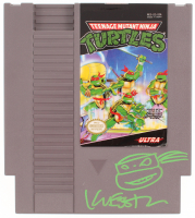 Kevin Eastman Signed Original 1985 Teenage Mutant Ninja Turtles Nintendo NES Video Game with Hand-Drawn Turtles Sketch (PA COA)