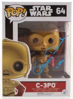 "Anthony Daniels Signed ""Star Wars: The Force Awakens"" C-3PO #64 Funko Pop! Vinyl Figure Inscribed ""C-3PO"" (Radtke COA) at PristineAuction.com"