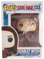 """Stan Lee Signed """"Captain America: Civil War"""" Scarlet Witch #133 Funko Pop! Vinyl Figure (Radtke COA & Lee Hologram) at PristineAuction.com"""