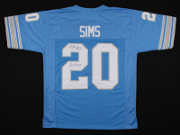 """Billy Sims Signed Detroit Lions Jersey Inscribed """"80 R.O.Y"""" (JSA COA)"""