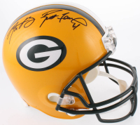 Brett Favre & Aaron Rodgers Signed Green Bay Packers Full-Size Helmet (Fanatics Hologram & Favre COA)