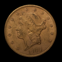 1906-S $20 Liberty Head Gold Double Eagle Gold Coin (AU Condition)