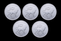 Lot of (5) John Wick 1 oz Silver Continental Coins
