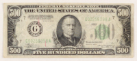1934-A $500 Five Hundred Dollars Federal Reserve Note