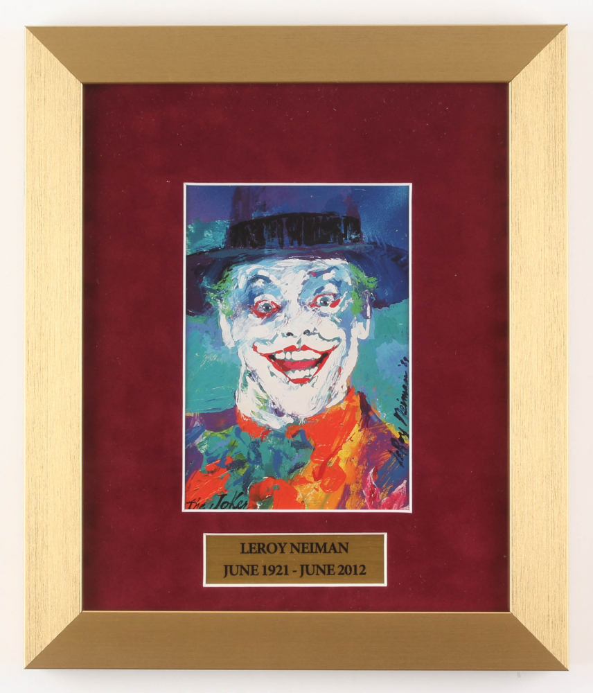 "LeRoy Neiman ""The Joker"" 11x13 Custom Framed Print Display at PristineAuction.com"