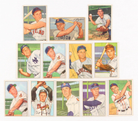 Lot of (12) 1952 Bowman Baseball Cards with #9 Vern Stephens, #151 Al Rosen, #111 Hoot Evers