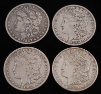 Lot of (4) Morgan Silver Dollars with 1887-O, 1896-O, 1902-O, & 1921