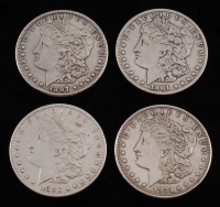 Lot of (4) Morgan Silver Dollars with 1883, 1897-S, 1901-O, & 1921-D