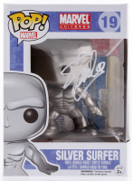 Stan Lee Signed Marvel Silver Surfer #19 Funko Pop! Vinyl Figure (Radtke COA & Lee Hologram)