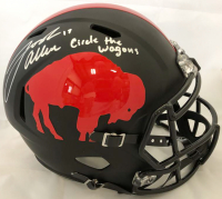 "Josh Allen Signed Buffalo Bills Full-Size Speed Helmet Inscribed ""Circle The Wagon"" (Beckett COA)"