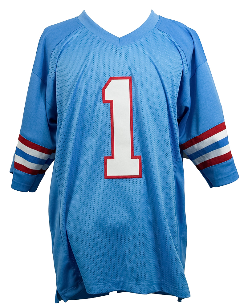 be176dddd Warren Moon Signed Houston Oilers Jersey Inscribed