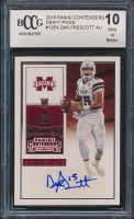 2016 Panini Contenders Draft Picks #125A Dak Prescott Autographs RC (BCCG 10) at PristineAuction.com