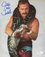 "Jake ""The Snake"" Roberts Signed WWE 8x10 Photo (JSA COA)"