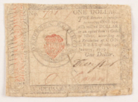 1779 $1 One-Dollar Continental Colonial Currency Note
