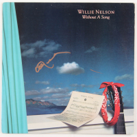 """Willie Nelson Signed """"Without a Song"""" Vinyl Record Album (JSA COA)"""