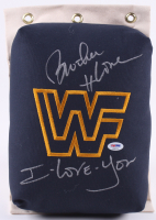 "Brother Love Signed WWF 80's Style Turnbuckle Inscribed ""I Love You"" (PSA COA) at PristineAuction.com"